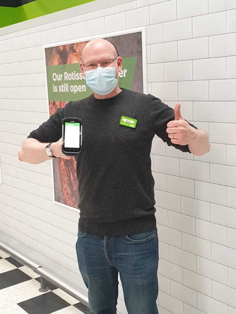 Stephen at the Asda supermarket in Southport helped an elderly customer make sure she got her shopping