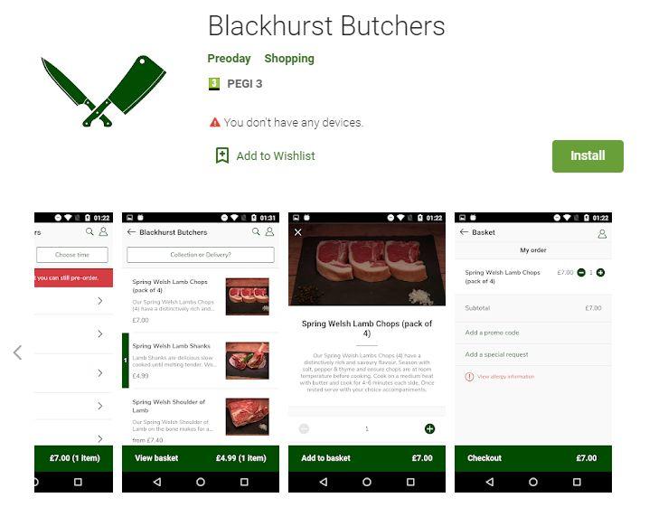 The new Blackhurst Butchers App