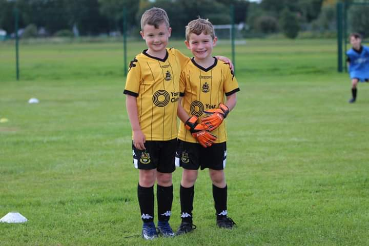 Harry Cottam, 9, and Leighton Hock, 10, are raising money for Southport FC