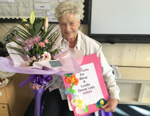 'Lovely dinner lady' Cherry retires from Southport school aged 80 in emotional farewell