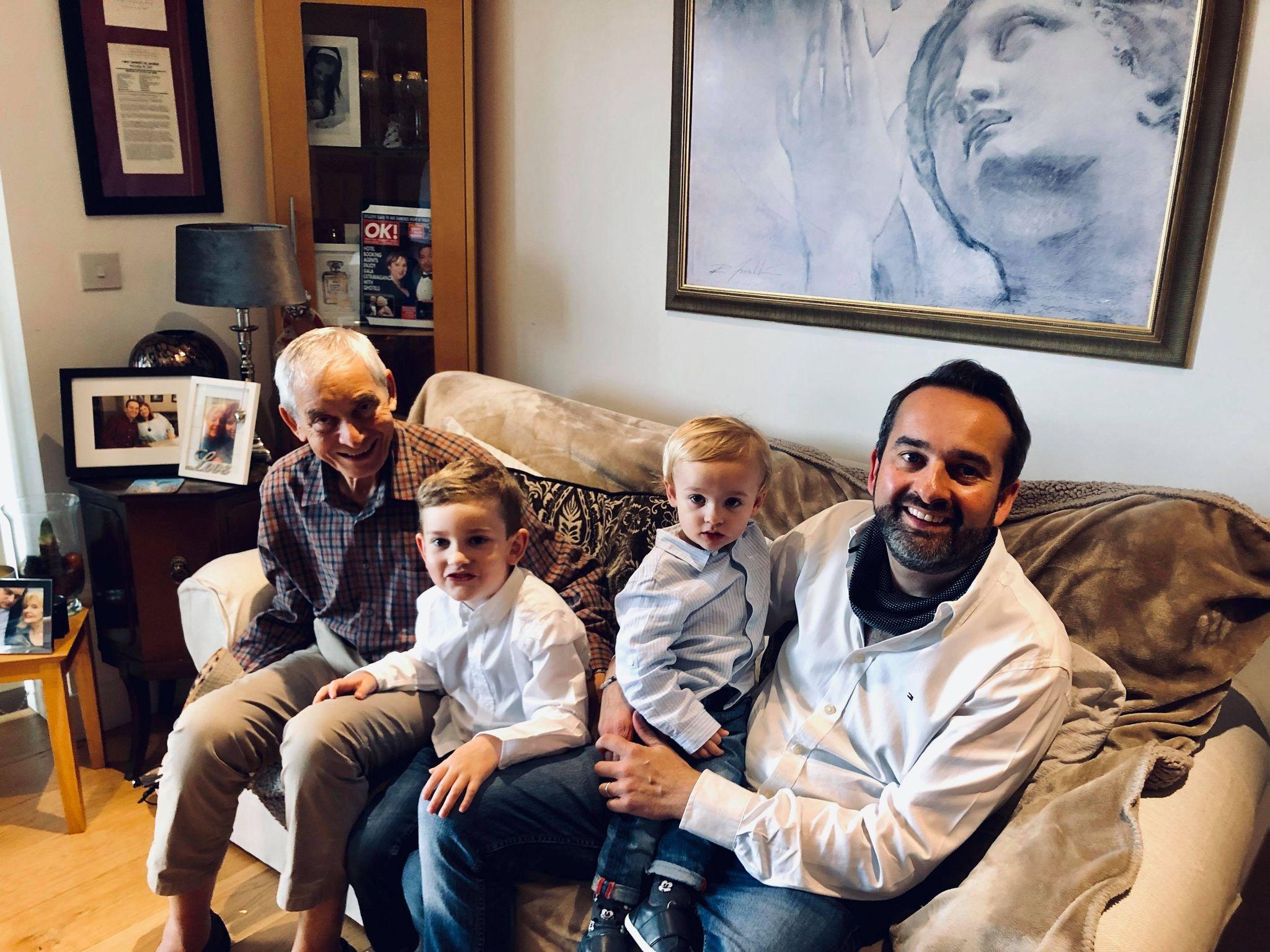 Erasmo Grossi with son Simon and his grandchildren