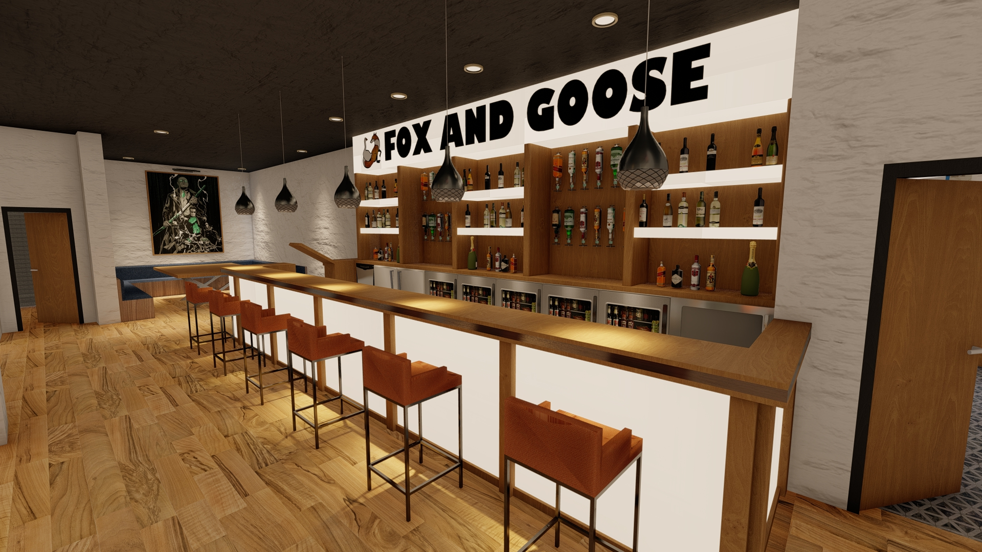 An artist's impression of the transformed The Fox & Goose on Cable Street in Southport