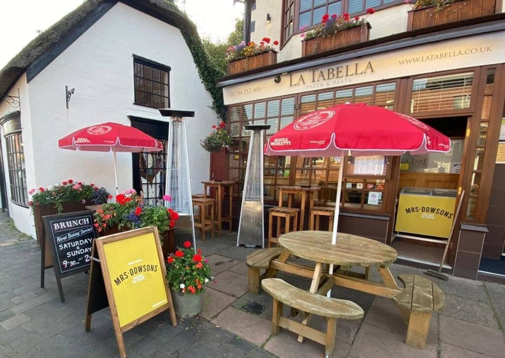 La Tabella restaurant on Botanic Road in Churchtown in Southport