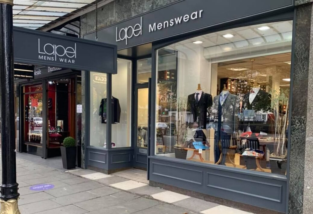 Lapel Menswear on Lord Street in Southport