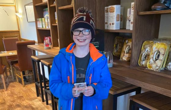 Max Wright, 11, a pupil at St Philips School in Southport, has donated £50 to children in need over October half term