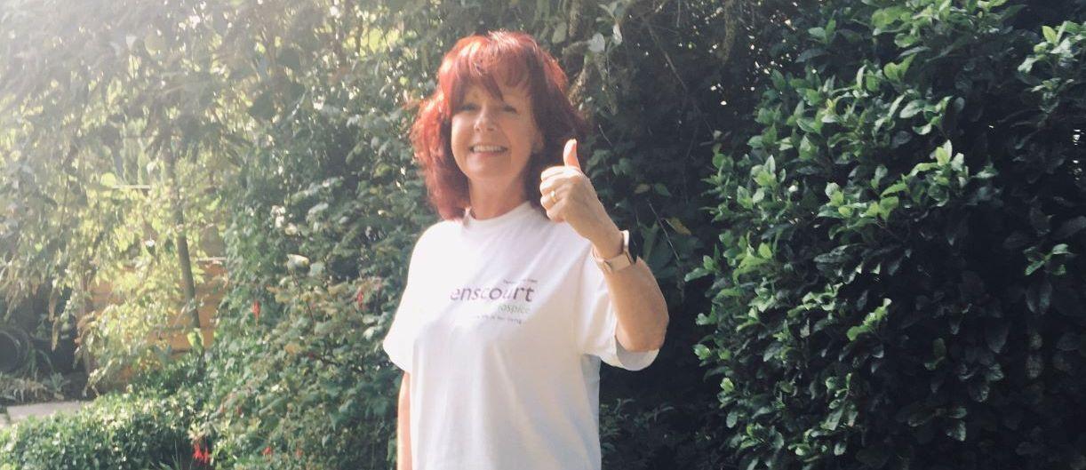 Sue Dawe is raising money for Queenscourt Hospice