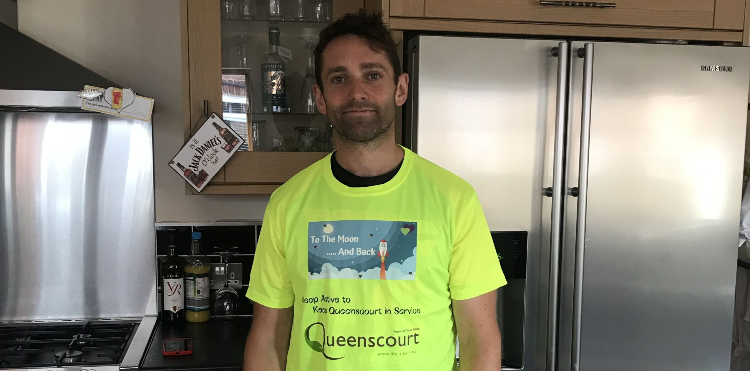 Andrew Johnson is raising money for Queenscourt Hospice