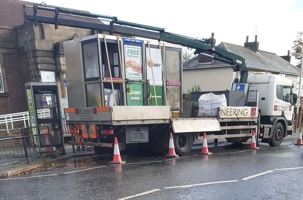 Disused phone boxes have been removed from Southport