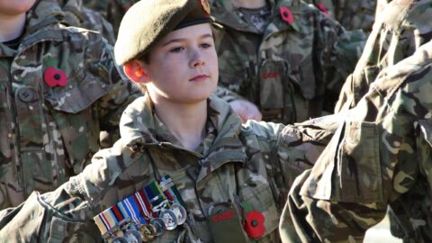 Cadet wearing father's medals at Remembrance Parade a worthy winner in photo contest