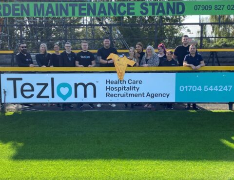 Healthcare recruitment agency Tezlom show their support for Southport FC