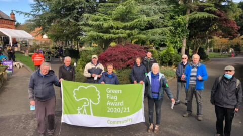 Botanic Gardens volunteers proudly fly new Green Flag Award after making park look stunning