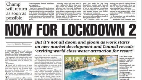 Champion Newspapers temporarily suspends editions as new lockdown begins