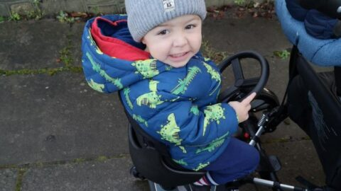 Joshua, 2, can scoot along with his siblings thanks to Community Link Foundation