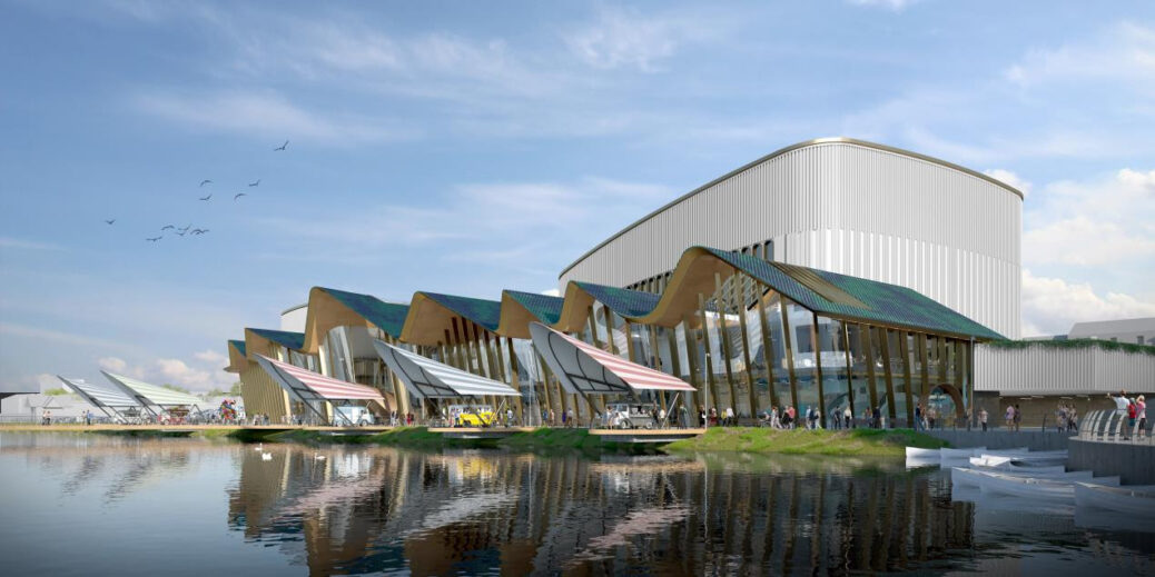 The proposed design of the new Marine Lake Events Centre in Southport