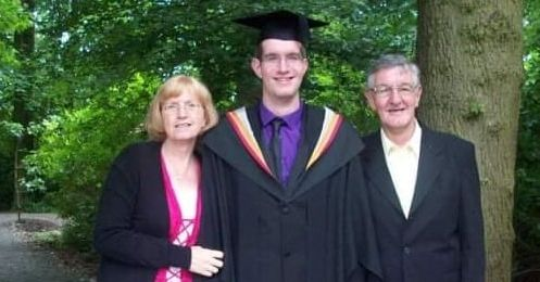 Dr Michael Walton with his parents Roger and Margaret