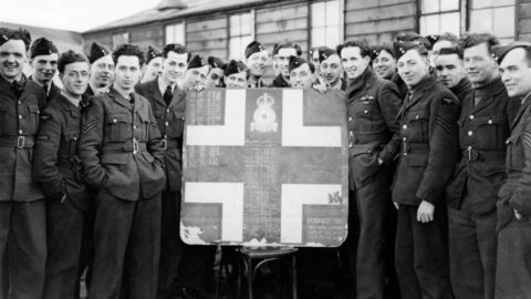 World War Two Tally Board of enemy aircraft returned to RAF Woodvale in Southport
