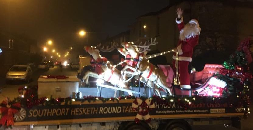 The Southport Hesketh Round Table Father Christmas sleigh