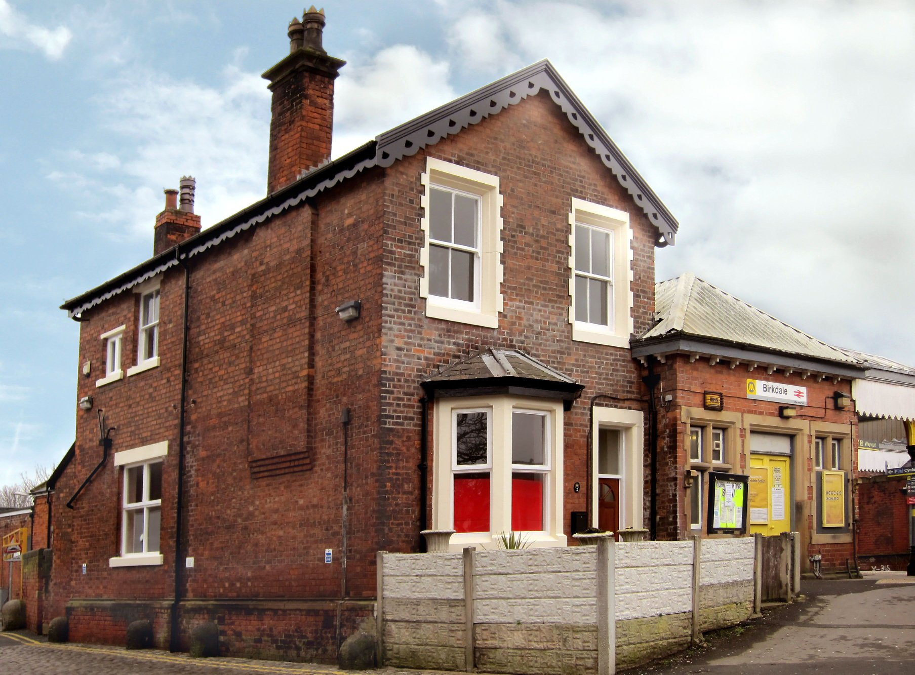 Birkdale Community Hub and Library at the old Station Master's House at Birkdale Railway Station in Southport