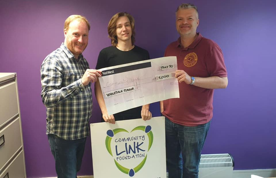 Wholesale Flavours, a business based in Banks, has made an incredibly generous donation of £5,000 to Community Link Foundation