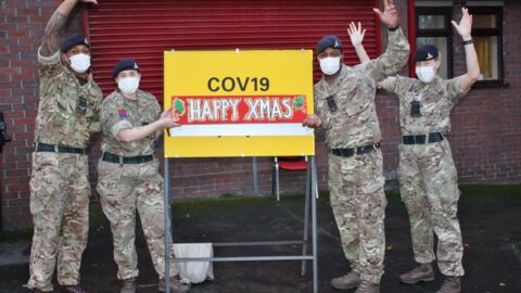 Christmas cards provide a warm welcome for Gurkha soldiers at Altcar Training Camp in Hightown