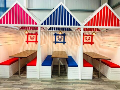Popular play centre near Southport uses lockdown to create fun new beach huts!