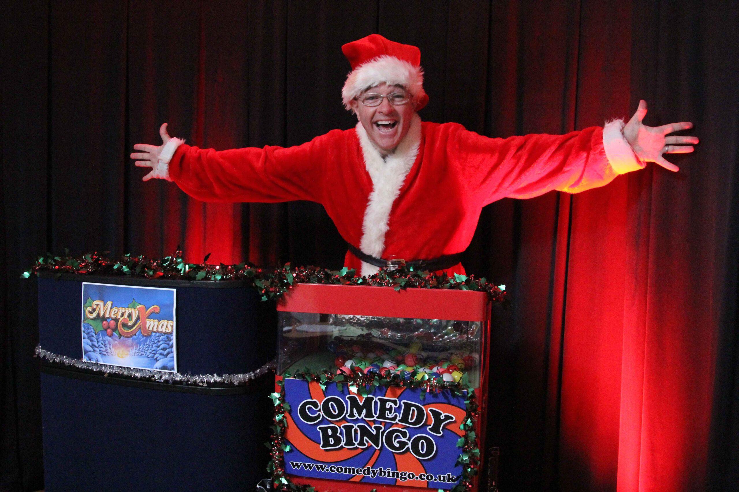 Comedy Bingo host and owner Brendan Riley