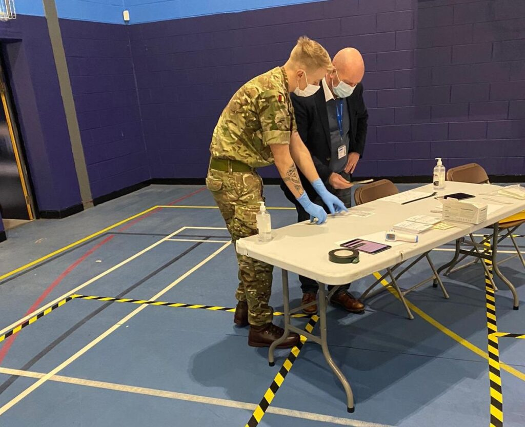 Sefton Council Chief Executive Dwayne Johnson gets a Covid-19 test