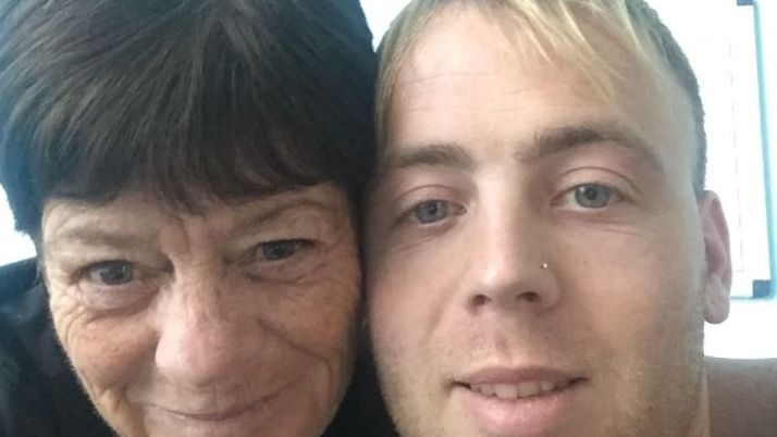 Margaret Cooper and her grandson Paul