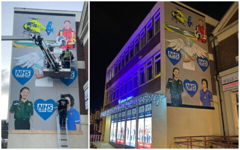 NHS staff fighting Covid-19 honoured in sensational 3-storey mural in Southport