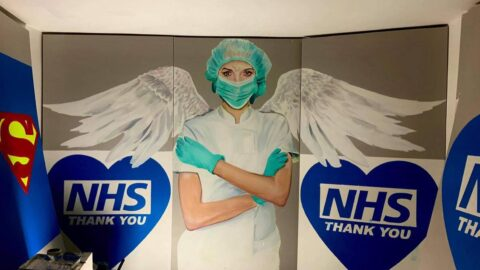 Sneak preview of huge new NHS mural due to appear in Southport
