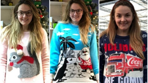 Gardening firms fundraiser wears 25 Christmas jumpers in 25 days to help charities