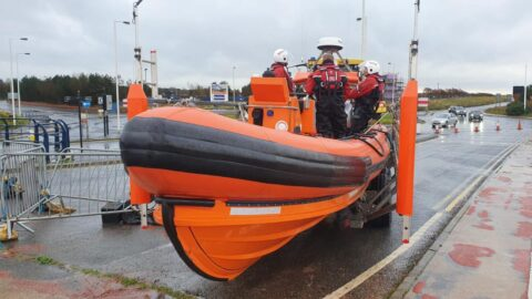 Southport Lifeboat rescues paddle boarder who drifted out 1km to sea