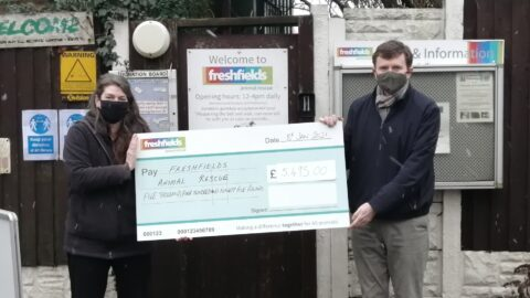 Dickinson Parker Hill Solicitors raise £5,495 for Freshfields Animal Rescue through Charity Will Month