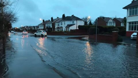 Storm Christophe Weather Warning upgraded to Amber as floods close roads and railways