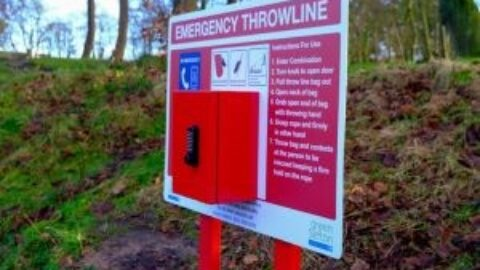 Hesketh Park in Southport sees new safety equipment installed near lake
