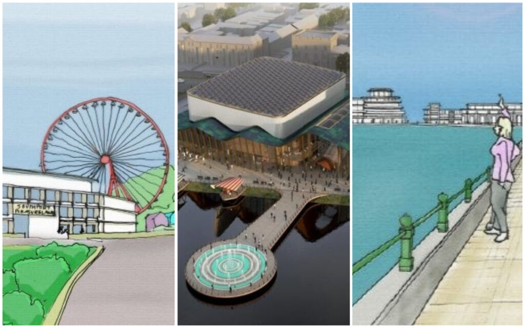 Suggested new developments for the Marine Lake in Southport
