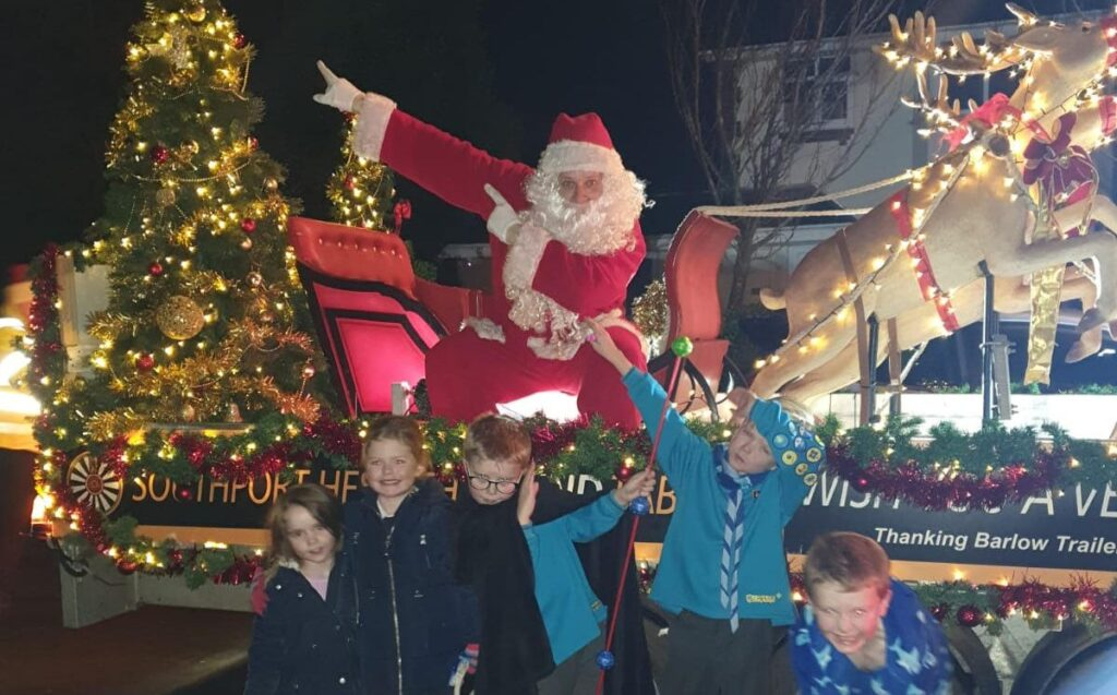 Thousands of people in Southport enjoyed the Southport Hesketh Round Table Santa Sleigh