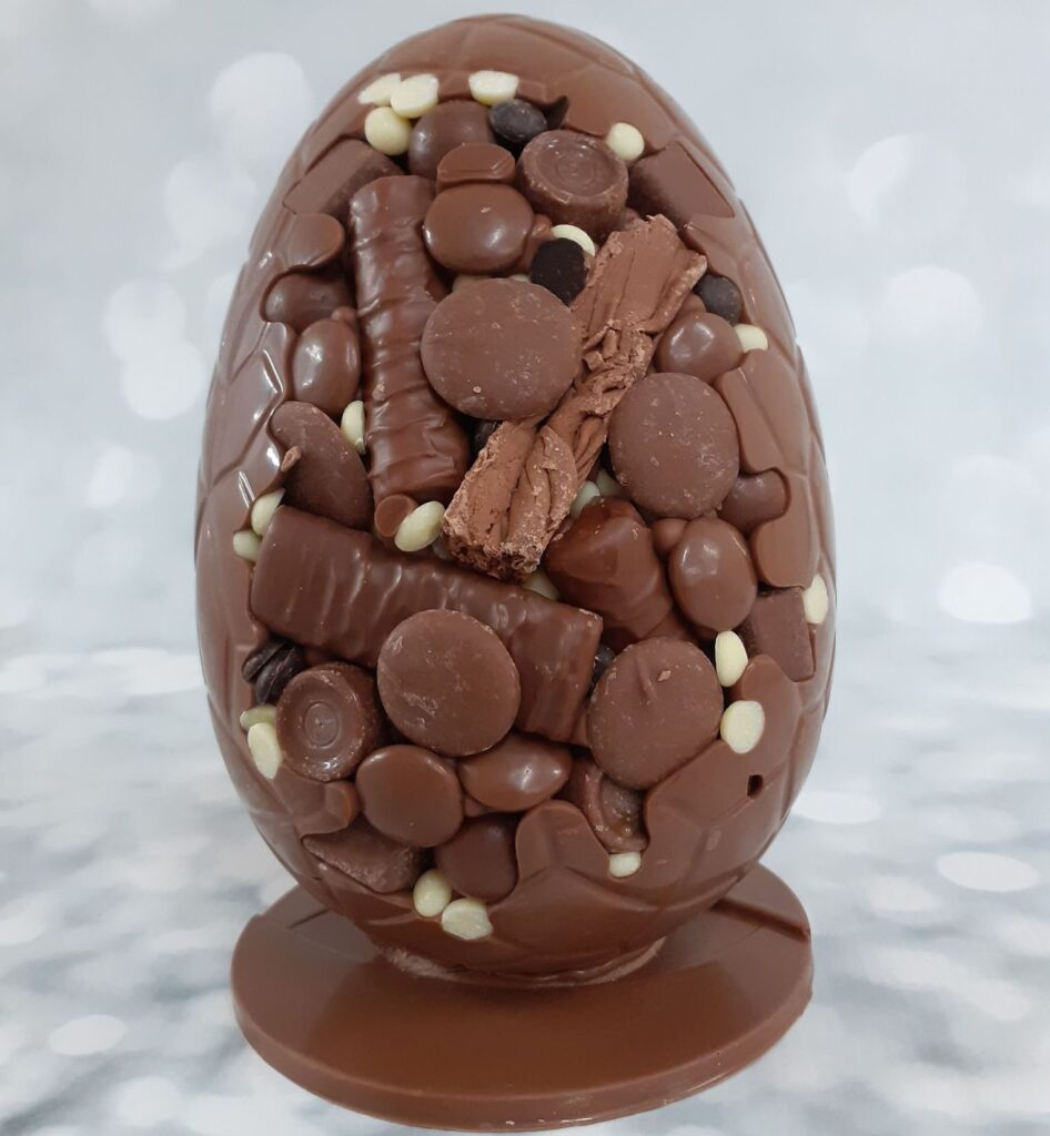 Extra thick egg-splosion eggs at Chocolate Whirled in Southport