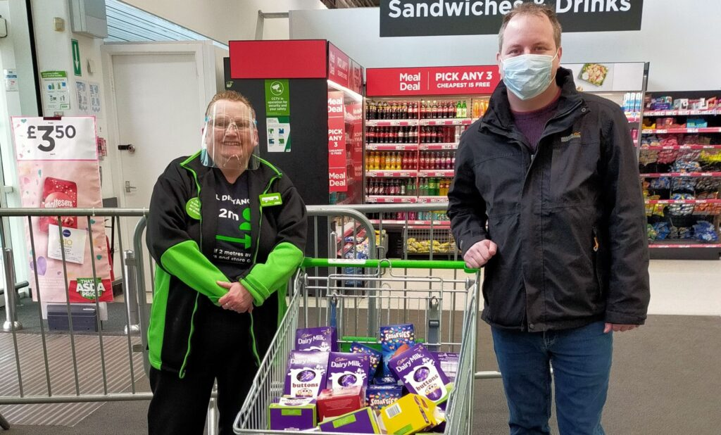 Sharon Gregory-Wareing and Andrew Hilbert at Southport Asda