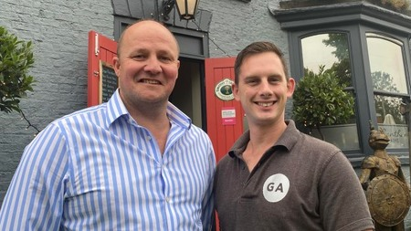 Grantham Arms hosts Simon and Joe are competing in Channel 4 TV series Four in a Bed