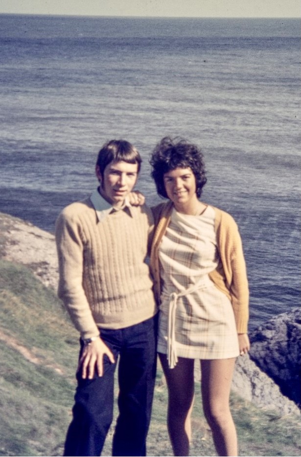 Southport grandparents Joan and Jimmy O'Shaughnessy have gained over 400,000 followers and millions of views on TikTok. They are pictured here in 1970