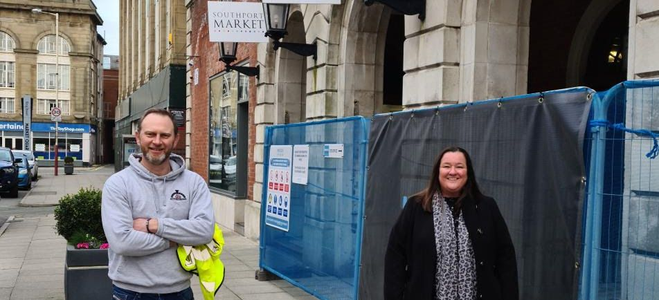 Traditional wood fired pizza from local business 600 Degrees is heading to Southport Market. Dan Johnstone from 600 Degrees is pictured with Sefton Council Cabinet Member for Regeneration and Skills Cllr Marion Atkinson