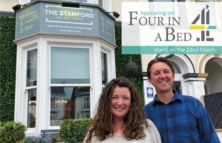 Sarah and Ricky Blaney from The Stamford guest house in Southport will star in the Four in a Bed TV series on Channel 4