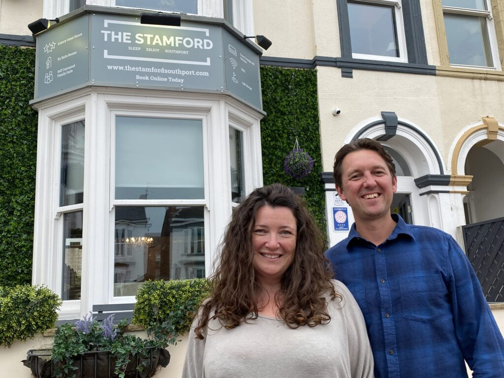 Sarah and Ricky Blaney, owners of The Stamford in Southport