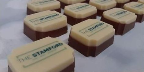 Chocolates made for The Stamford guest house in Southport by Chocolate Whirled