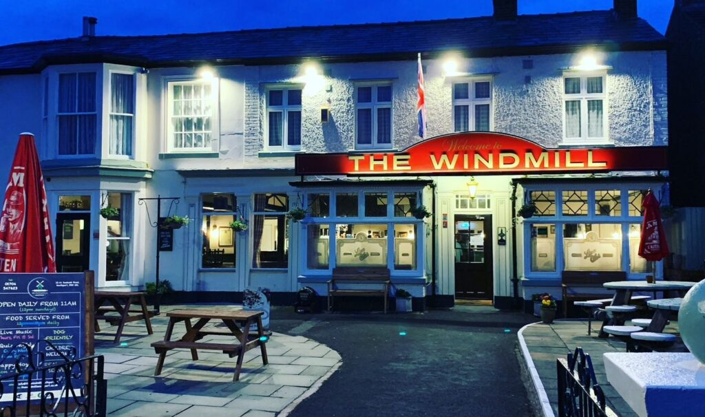 The Windmill pub on Seabank Road in Southport