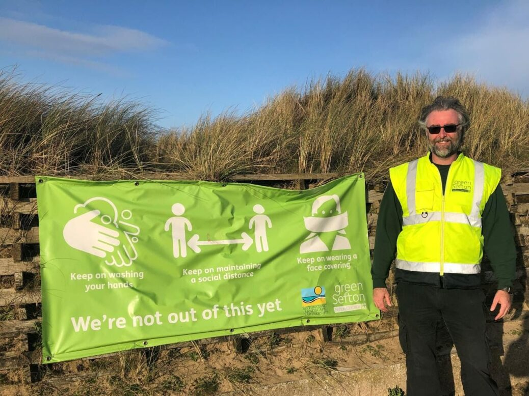 Green Sefton Service Manager Mark Shaw at Ainsdale Beach in Southport