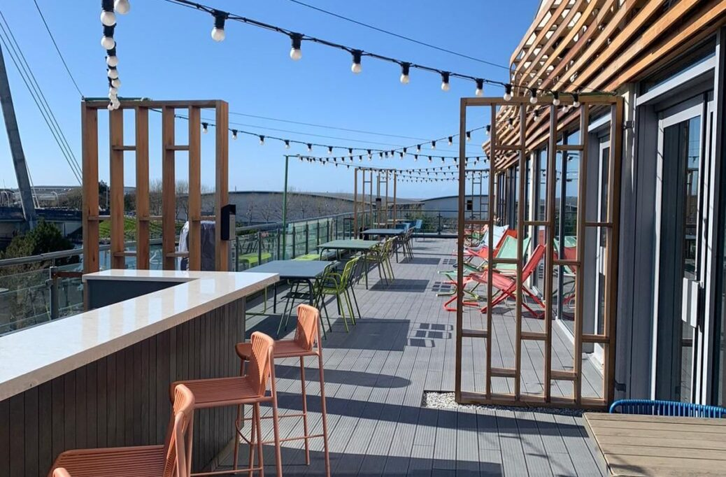 The Roof Garden at Bliss Hotel in Southport