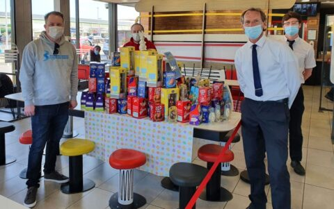 Sandgrounder Radio appeal donates hundreds of Easter eggs to Alder Hey and Southport Baby Bank