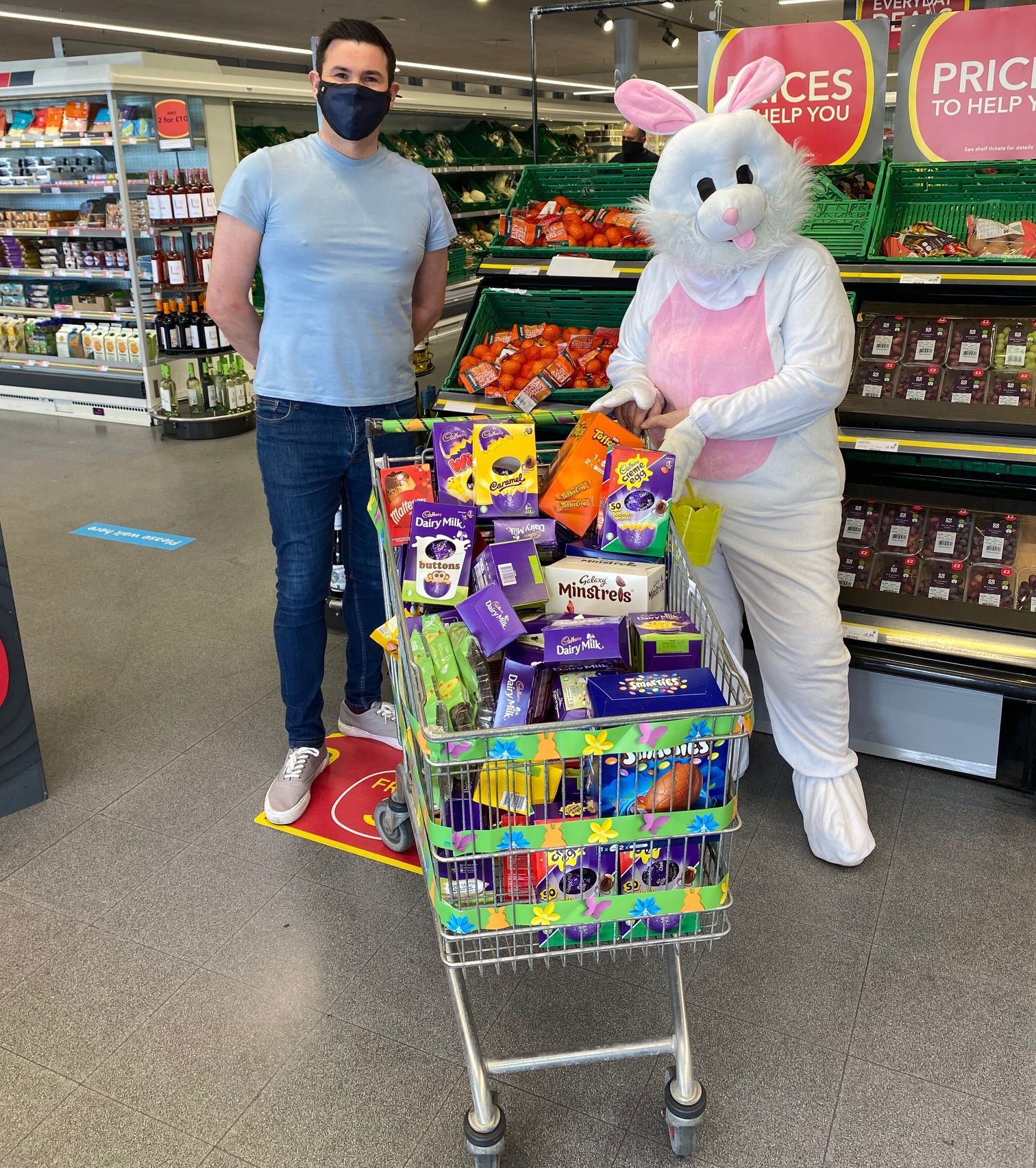 The Co-Op store in Marshside in Southport supported this year's Sandgrounder Radio Easter Egg Appeal
